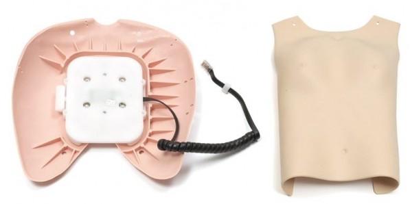 Brusthaut mit Brustplatte und Drucksensor SRA