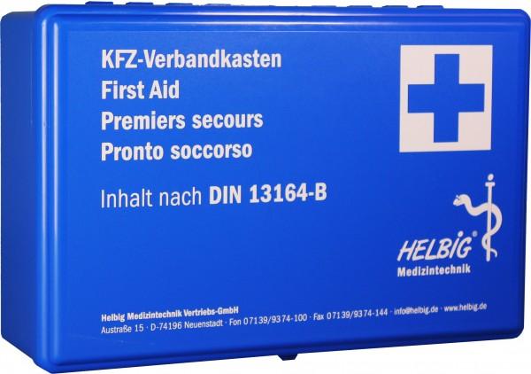 KFZ - Verbandkasten Kunststoff blau