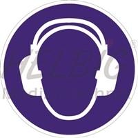 Gebotszeichen Gehörschutz benutzen Kunststoff 20 cm