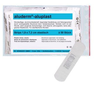aluderm®-aluplast elastisch Strips 1,9 x 7,2 cm 50 Stück