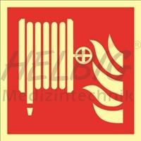 Brandschutzzeichen Löschschlauch 20 x 20 cm Kunststoff langnachleuchtend