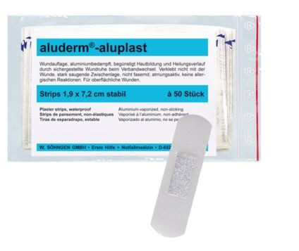 aluderm®-aluplast stabil Strips 1,9 x 7,2 cm 50 Stück