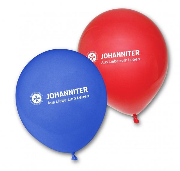 Luftballons JUH rot und blau (100 Stück)