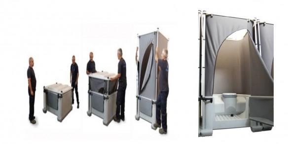 Faltbare mobile WC Kabine