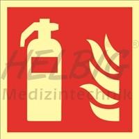Brandschutzzeichen Feuerlöscher Kunststoff 20 x 20 cm