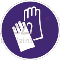 Gebotszeichen Handschutz benutzen Kunstoff 20 cm