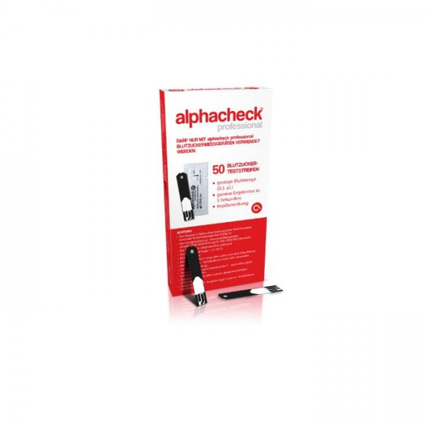 alphacheck Professional Teststreifen-geblistert