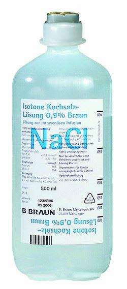 Isotonische Kochsalzlösung 0,9 % (10 x 500 ml)