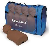 LITTLE JUNIOR DUNKEL 4er Paket mit Tasche
