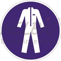 Gebotszeichen Schutzkleidung benutzen Kunstoff 20 cm