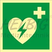 Rettungszeichen AED