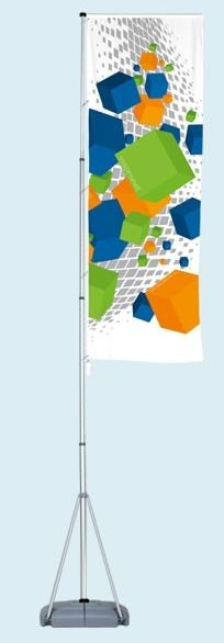 Mobiler Fahenmast 6 Meter T-Pole 200