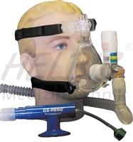 BiTrac ED Mask-3-Peep Erwachsene groß mit Kopfgeschirr + Schlauchsystem
