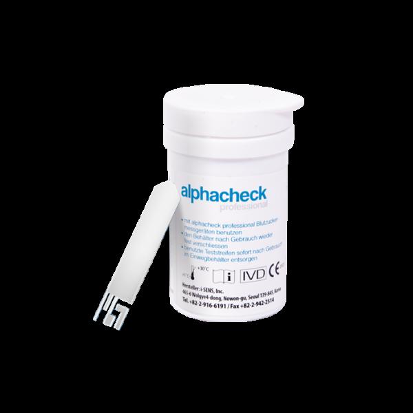alphacheck professional Blutzuckerteststreifen - 50 Stück