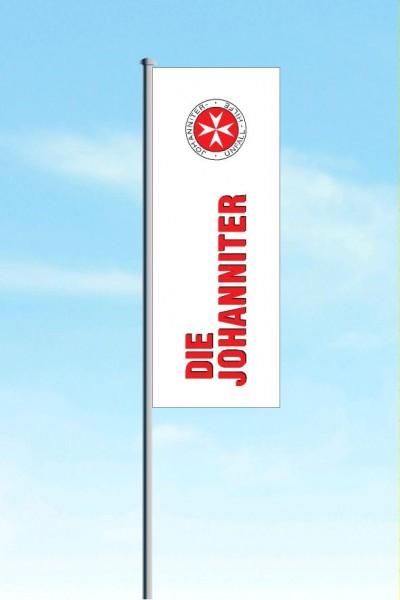Hissflagge JUH, weiß (120 x 300 cm)