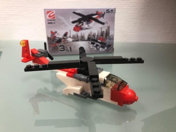 Hubschraubermodell Luftrettung 3in1