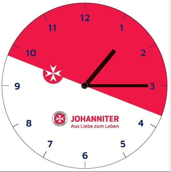 "Glas-Wanduhr ""Johanniter"""