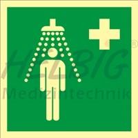 Rettungszeichen Notdusche
