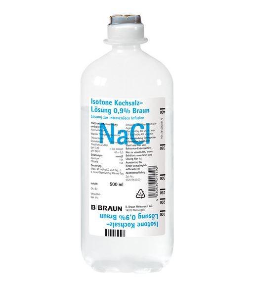 Isotonische Kochsalzlösung 0,9 % (10 x 1.000 ml)