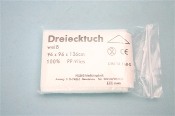 Dreieckstuch, Vlies DIN 13 168