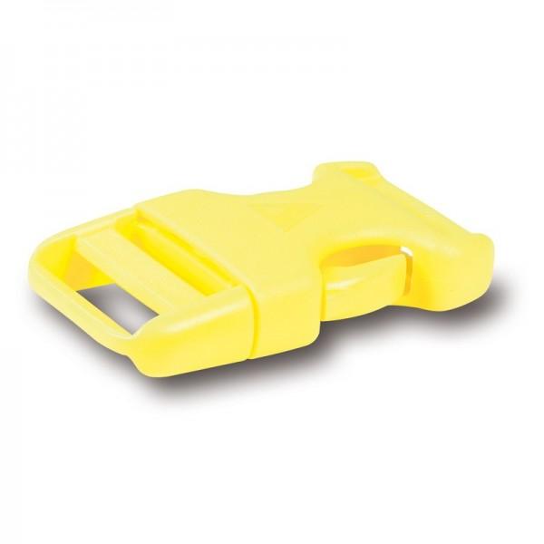 PAX Steckschnalle 25mm - tagesleuchtgelb