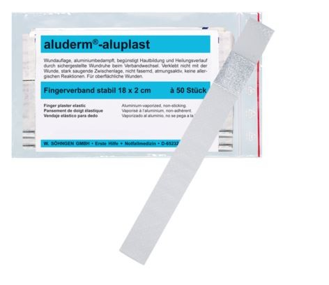 aluderm®-aluplast stabil Fingerverband 18 x 2 cm 50 Stück