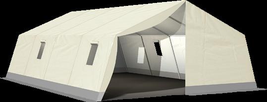 MUZ 230 - Natur Mannschafts- und Unterkunftszelt