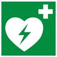 Aufkleber Rettungszeichen AED,
