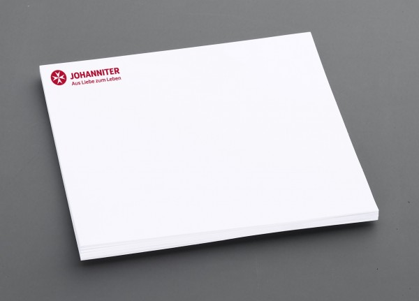 Haftnotizblock Johanniter GmbH/Seniorenhäuser ( 50 Stück)
