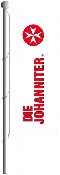 Hissflagge JoSe, weiß mit Auslegerkonfektion