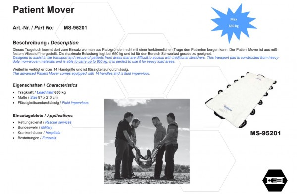 Patient Mover (Tragetuch)